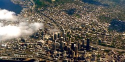 Aerial view of Seattle for post on CMBS