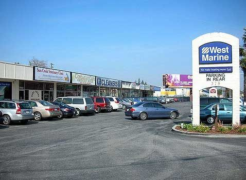 Stripmall in Seattle suburb